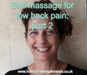 Self-massage for low back pain, part 2