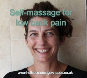 Self-massage for low back pain
