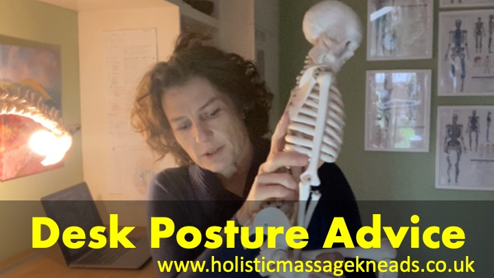 Desk postural advice